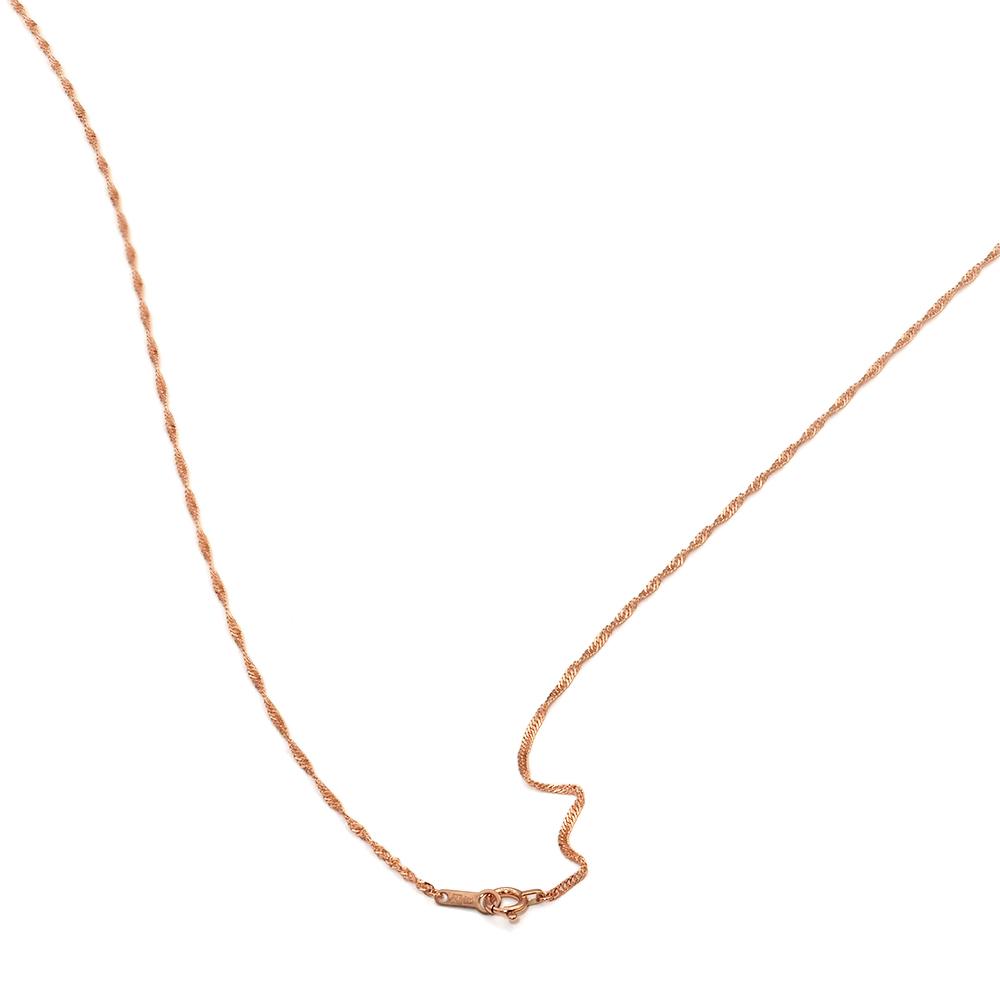 小豆チェーン・ネックレス 【18金ピンクゴールド】 (1.0mm/38cm) 「鎖/K18PG/18k・貴金属ジュエリー」