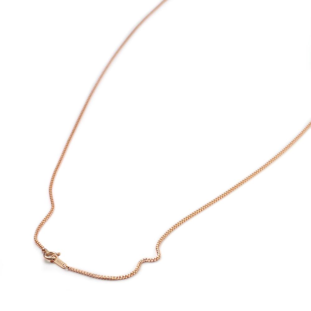 ネックレス チェーン 18金 ピンクゴールド ベネチアンチェーン 幅1.0mm 長さ38cm|鎖 K18PG 18k 貴金属 ジュエリー レディース メンズ