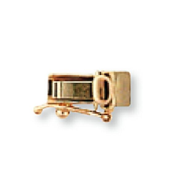 【1個売り】 留め具 18金 ピンクゴールド 差し込み式クラスプ セーフティー付き 縦9.5mm 横4.0mm 手芸用品 金具 飾り パーツ 部品 K18PG 18k 貴金属