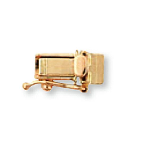 高級感漂う18金パーツ 1個売り 留め具 18金 ピンクゴールド 差し込み式クラスプ セーフティー付き 縦10.0mm 横4.5mm 新発売 飾り 貴金属 金具 部品 K18PG 18k 手芸用品 パーツ 蔵