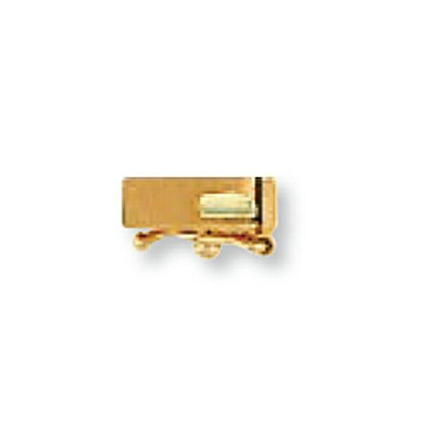 【1個売り】 留め具 18金 ピンクゴールド 差し込み式クラスプ セーフティー付き 縦8.0mm 横2.5mm|手芸用品 金具 飾り パーツ 部品 K18PG 18k 貴金属