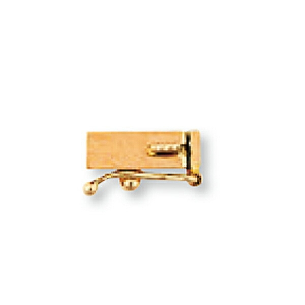 【1個売り】 留め具 18金 ピンクゴールド 差し込み式クラスプ セーフティー付き 縦9.5mm 横3.0mm|手芸用品 金具 飾り パーツ 部品 K18PG 18k 貴金属