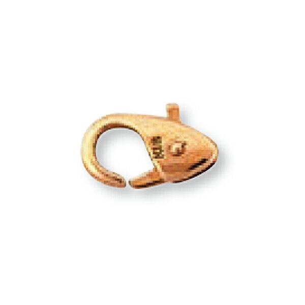 【1個売り】 留め具 18金 ピンクゴールド 小フック 縦9.5mm 横6.5mm カニカン カニ環 クラスプ|手芸用品 金具 飾り パーツ 部品 K18PG 18k 貴金属