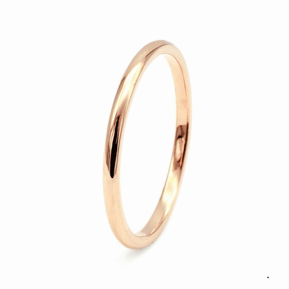 指輪 18金 ピンクゴールド 甲丸リング 幅1.5mm ピンキーリングもございます 地金リング|K18PG 18k 貴金属 ジュエリー レディース メンズ