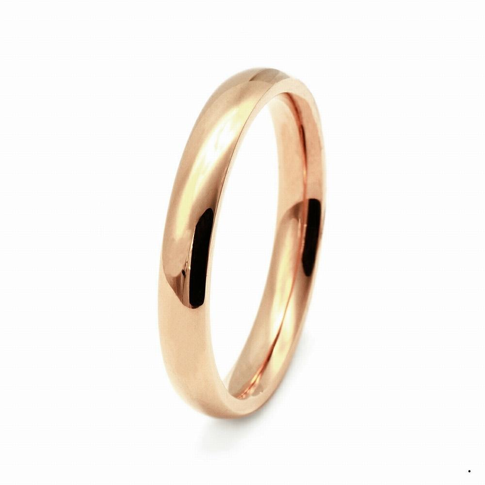 指輪 18金 ピンクゴールド 甲丸リング 幅2.5mm ピンキーリングもございます 地金リング|K18PG 18k 貴金属 ジュエリー レディース メンズ