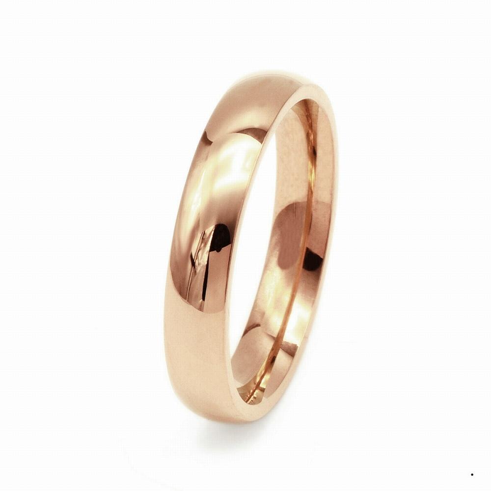 指輪 18金 ピンクゴールド 甲丸リング 幅4.0mm ピンキーリングもございます 地金リング|K18PG 18k 貴金属 ジュエリー レディース メンズ