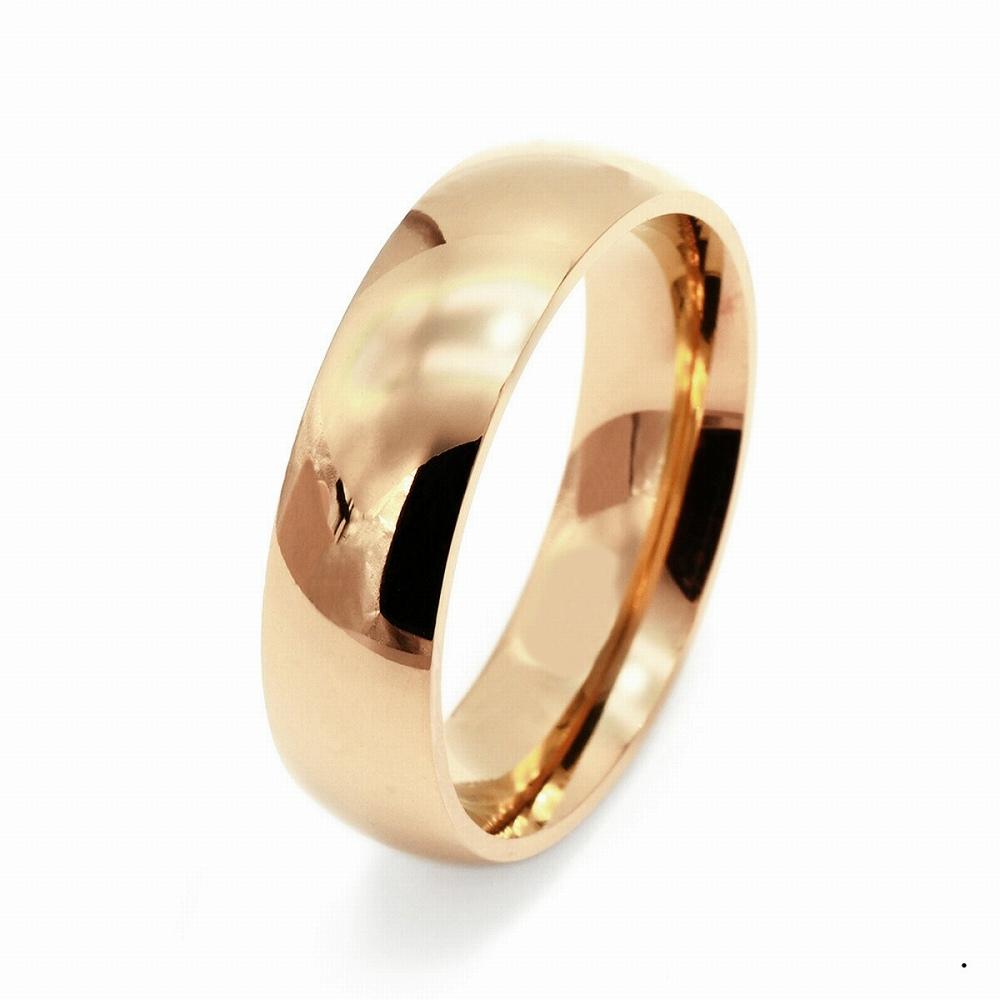 指輪 18金 ピンクゴールド 甲丸リング 幅6.0mm ピンキーリングもございます 地金リング|K18PG 18k 貴金属 ジュエリー レディース メンズ