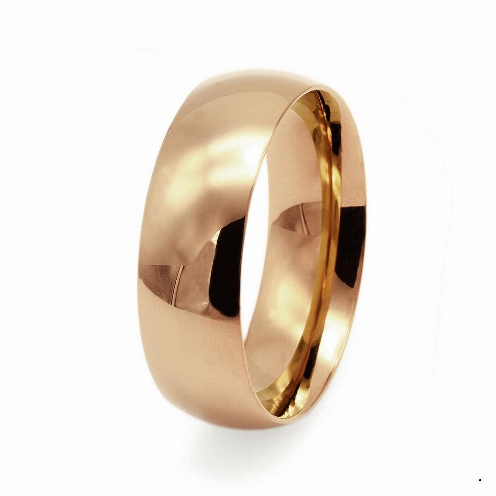 指輪 18金 ピンクゴールド 甲丸リング 幅8.0mm ピンキーリングもございます 地金リング|K18PG 18k 貴金属 ジュエリー レディース メンズ