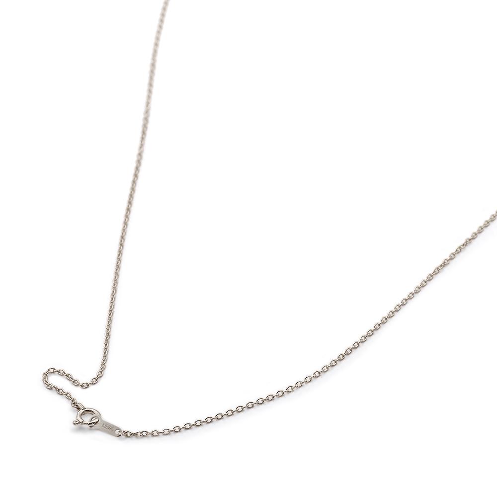 ネックレス チェーン 18金 ホワイトゴールド 小豆チェーン 幅1.2mm 長さ38cm|鎖 K18WG 18k 貴金属 ジュエリー レディース メンズ