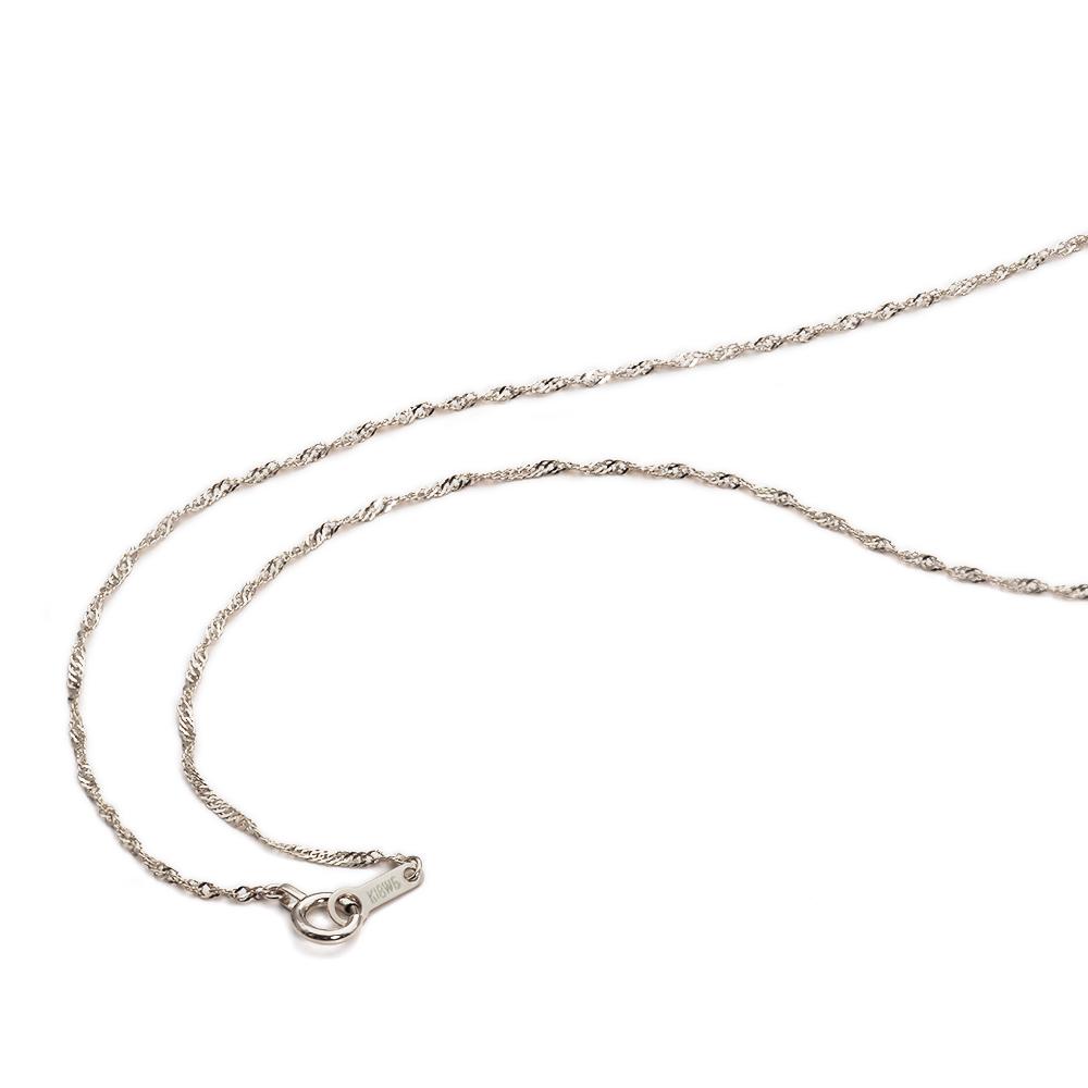 ネックレス チェーン 18金 ホワイトゴールド スクリューチェーン 幅1.2mm 長さ38cm|鎖 K18WG 18k 貴金属 ジュエリー レディース メンズ