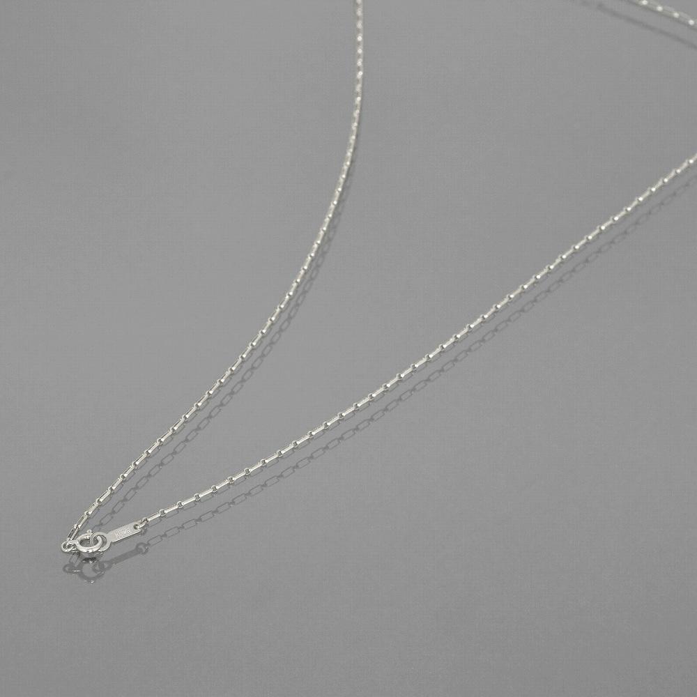ネックレス チェーン 18金 ホワイトゴールド ロールL&S(1対1)チェーン 幅1.3mm 長さ38cm|鎖 K18WG 18k 貴金属 ジュエリー レディース メンズ
