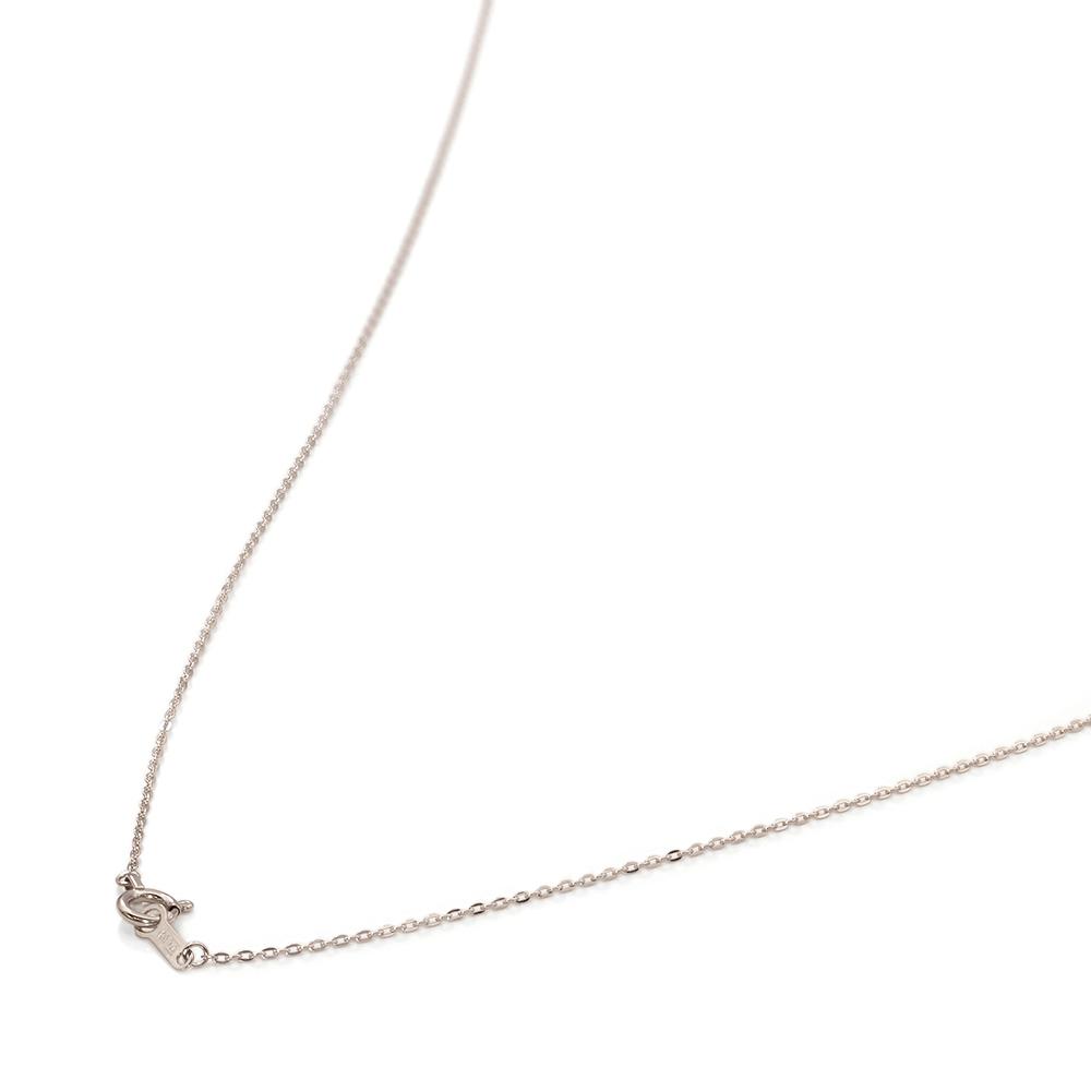 ネックレス チェーン 18金 ホワイトゴールド フラット小豆チェーン 幅0.9mm 長さ38cm|鎖 K18WG 18k 貴金属 ジュエリー レディース メンズ