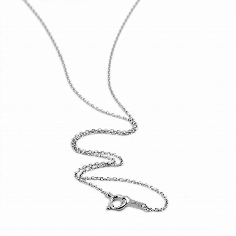 ネックレス チェーン 18金 ホワイトゴールド 4面カット小豆チェーン 幅1.1mm 長さ38cm|鎖 K18WG 18k 貴金属 ジュエリー レディース メンズ