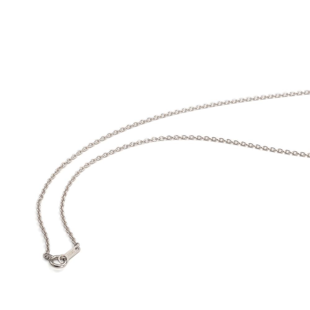 ネックレス チェーン 18金 ホワイトゴールド 小豆チェーン 幅1.3mm 長さ38cm|鎖 K18WG 18k 貴金属 ジュエリー レディース メンズ