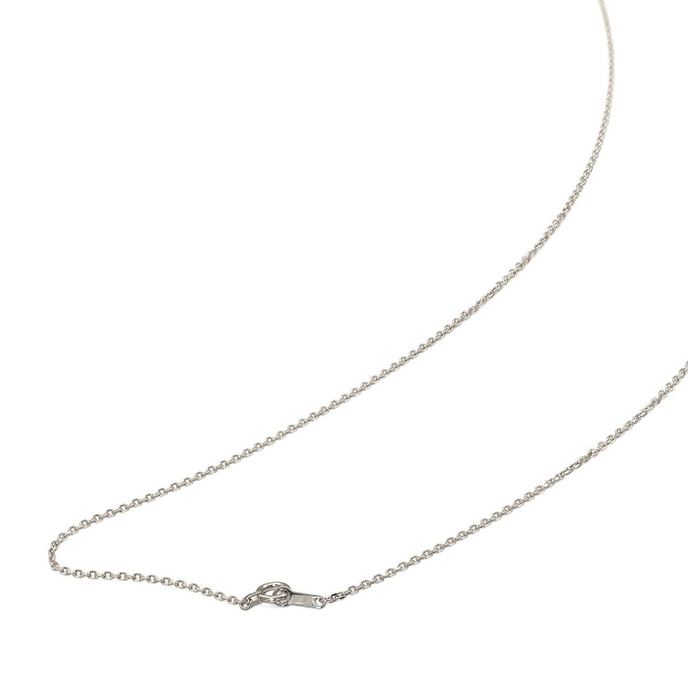 ネックレス チェーン 18金 ホワイトゴールド 4面カット小豆チェーン 幅1.2mm 長さ38cm|鎖 K18WG 18k 貴金属 ジュエリー レディース メンズ