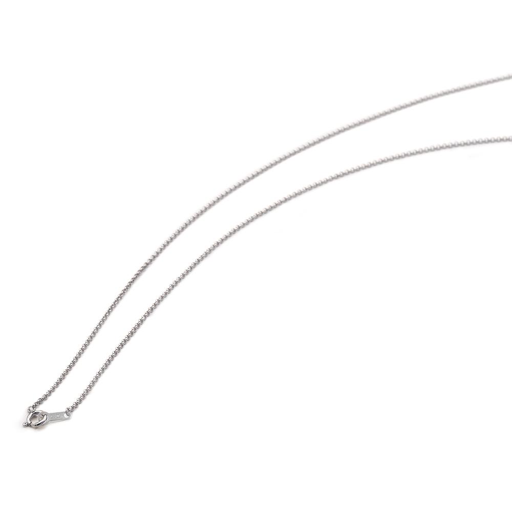 ネックレス チェーン 18金 ホワイトゴールド ロールチェーン 幅1.2mm 長さ38cm|鎖 K18WG 18k 貴金属 ジュエリー レディース メンズ