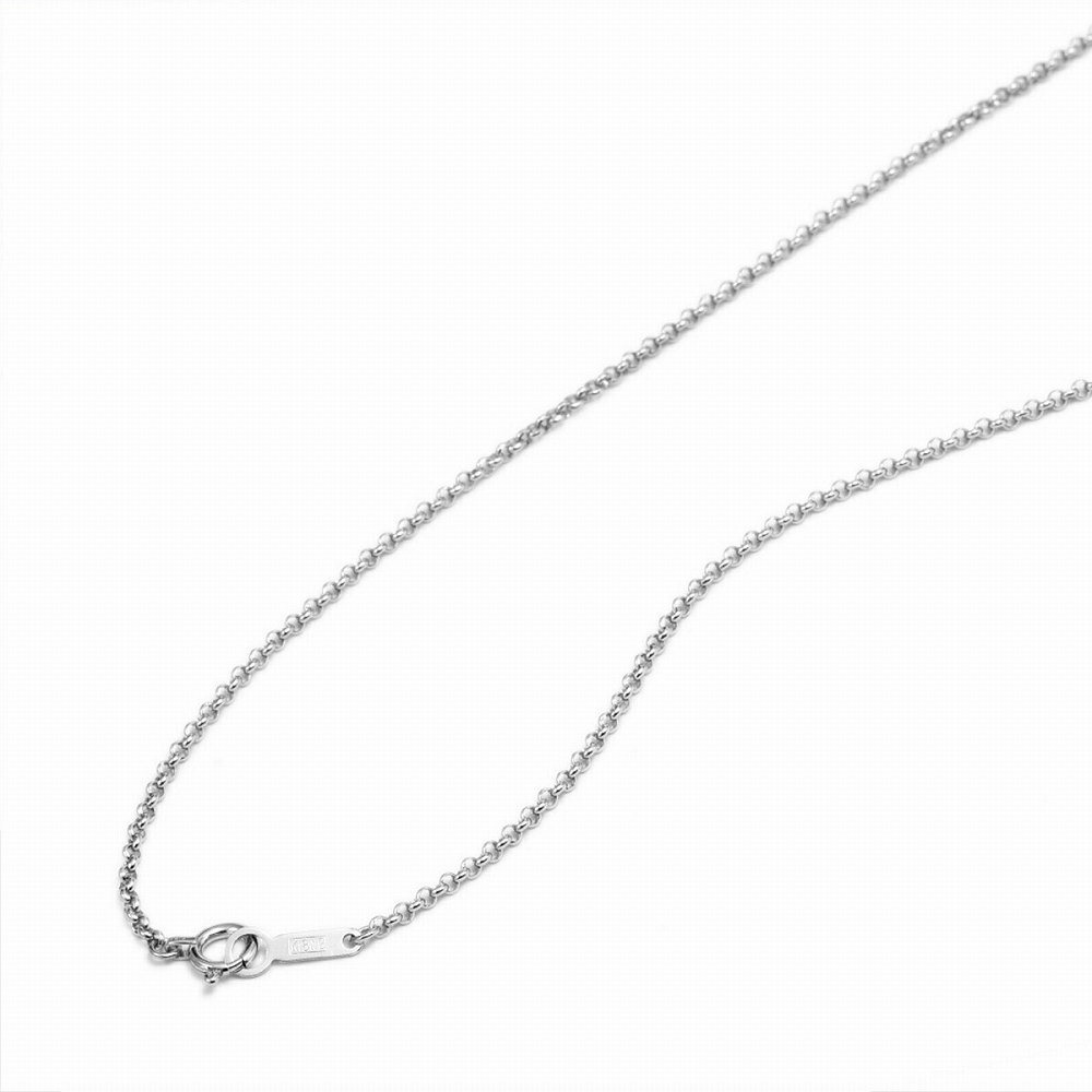 ネックレス チェーン 18金 ホワイトゴールド ロールチェーン 幅1.7mm 長さ38cm|鎖 K18WG 18k 貴金属 ジュエリー レディース メンズ