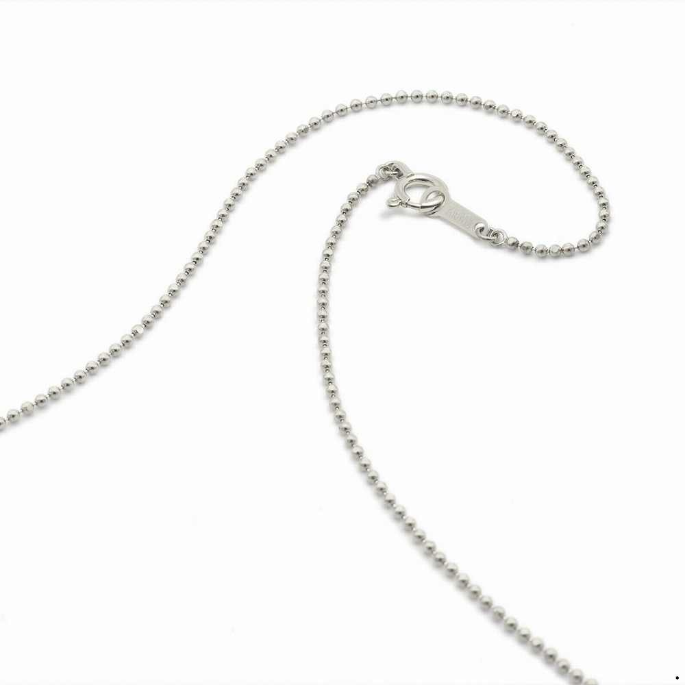 ネックレス チェーン 18金 ホワイトゴールド カットボールチェーン 幅1.2mm 長さ38cm|鎖 K18WG 18k 貴金属 ジュエリー レディース メンズ