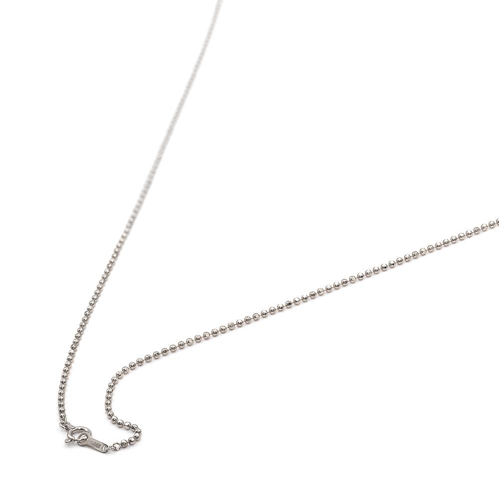 ネックレス チェーン 18金 ホワイトゴールド カットボールチェーン 幅1.5mm 長さ38cm|鎖 K18WG 18k 貴金属 ジュエリー レディース メンズ