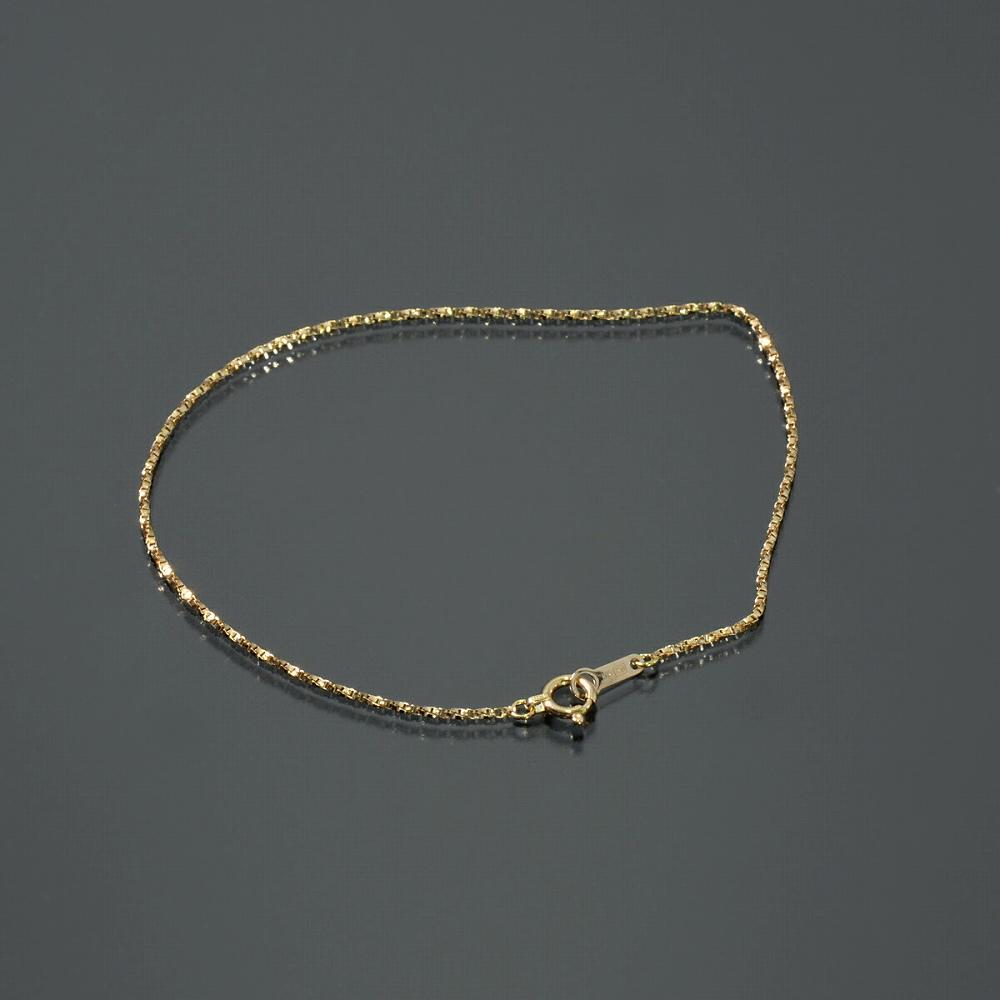 ブレスレット チェーン 18金 イエローゴールド ベネチアンツイストチェーン 幅1.0mm 長さ15cm|鎖 K18YG 18k 貴金属 ジュエリー レディース メンズ