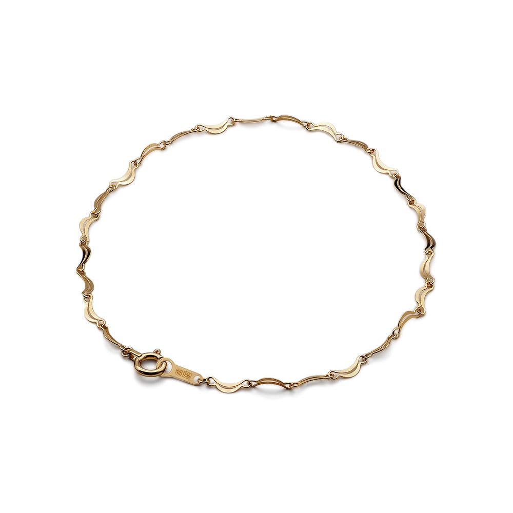 ブレスレット チェーン 18金 イエローゴールド ムーンライトチェーン 幅2.5mm|鎖 K18YG 18k 貴金属 ジュエリー レディース