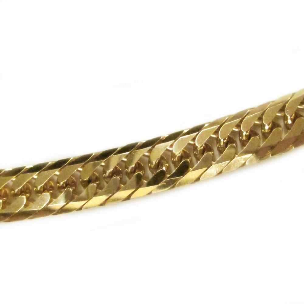 ブレスレット チェーン 18金 イエローゴールド 8面カットトリプル喜平チェーン 幅7.5mm 長さ20cm|鎖 K18YG 18k 貴金属 ジュエリー メンズ