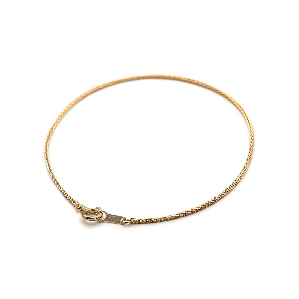 ブレスレット チェーン 18金 イエローゴールド スパイクチェーン 幅0.9mm|鎖 K18YG 18k 貴金属 ジュエリー レディース