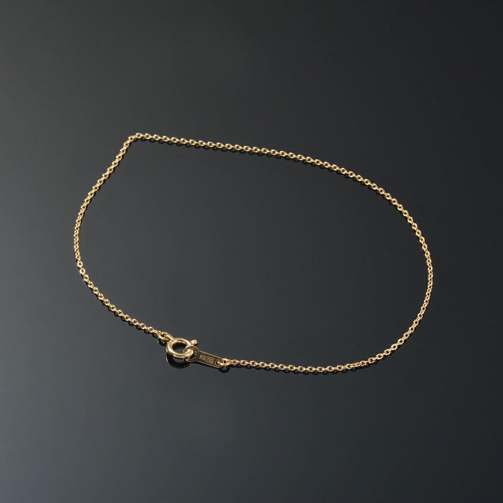 ブレスレット チェーン 18金 イエローゴールド 小豆チェーン 幅1.0mm 長さ15cm|鎖 K18YG 18k 貴金属 ジュエリー レディース メンズ