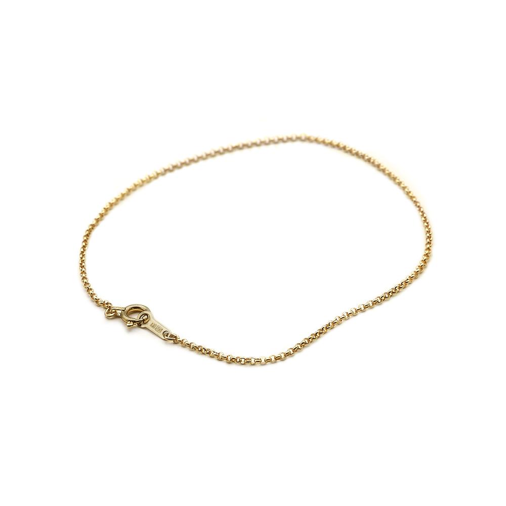 ブレスレット チェーン 18金 イエローゴールド ロールチェーン 幅1.2mm 長さ15cm|鎖 K18YG 18k 貴金属 ジュエリー レディース メンズ