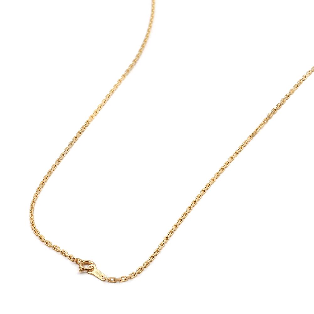 ネックレス チェーン 18金 イエローゴールド 4面カット小豆チェーン 幅1.5mm 長さ38cm|鎖 K18YG 18k 貴金属 ジュエリー レディース メンズ
