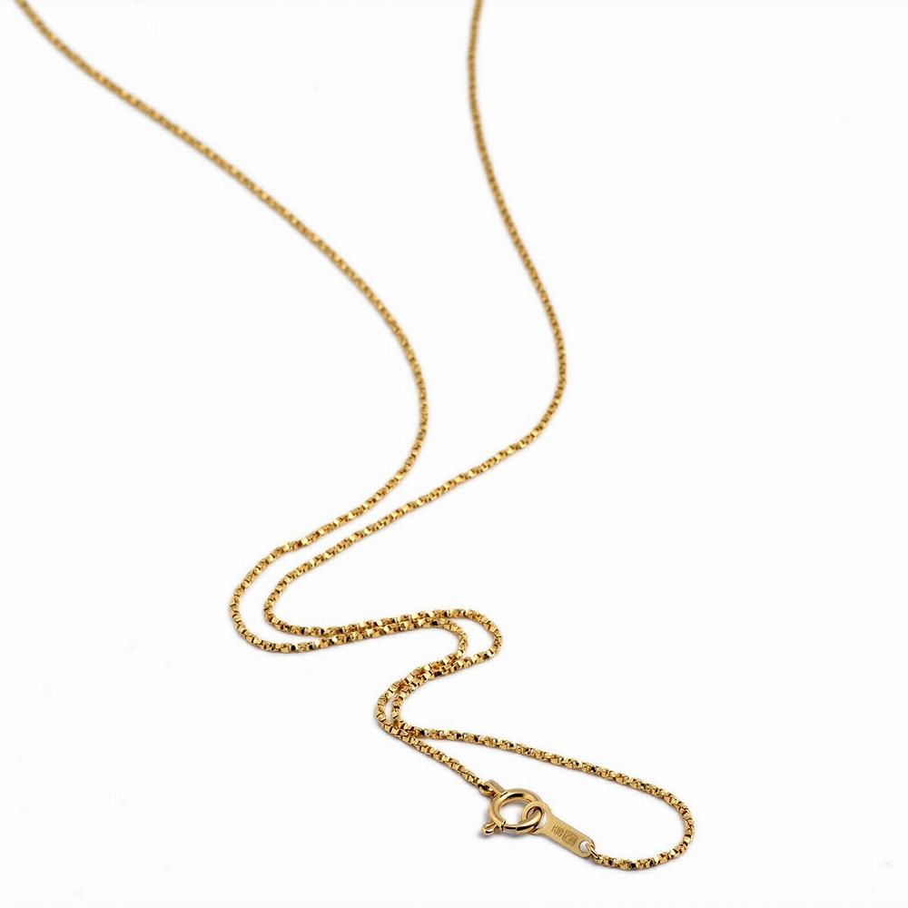ネックレス チェーン 18金 イエローゴールド ベネチアンツイストチェーン 幅0.9mm 長さ38cm|鎖 K18YG 18k 貴金属 ジュエリー レディース メンズ