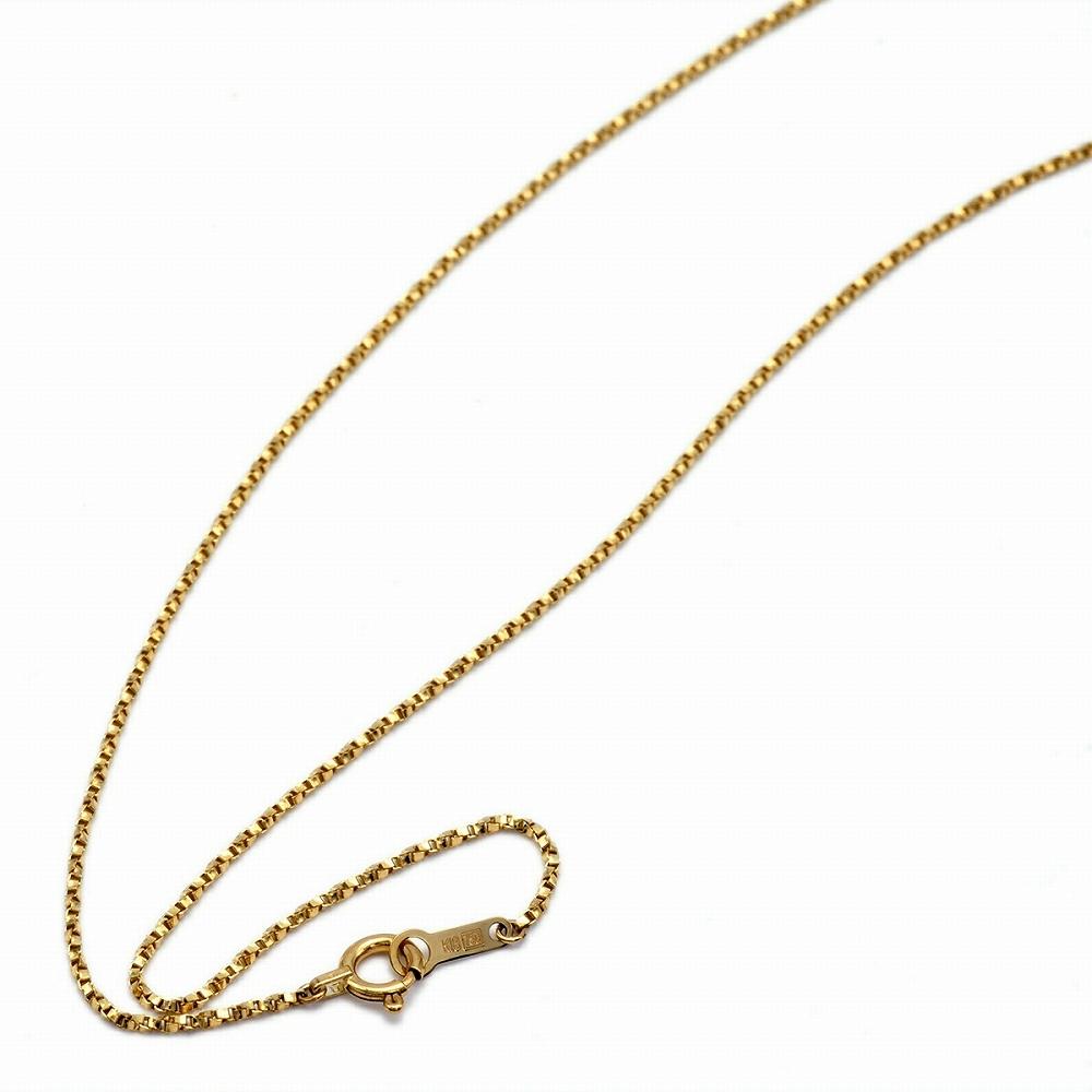 ネックレス チェーン 18金 イエローゴールド ベネチアンツイストチェーン 幅1.0mm 長さ38cm|鎖 K18YG 18k 貴金属 ジュエリー レディース メンズ
