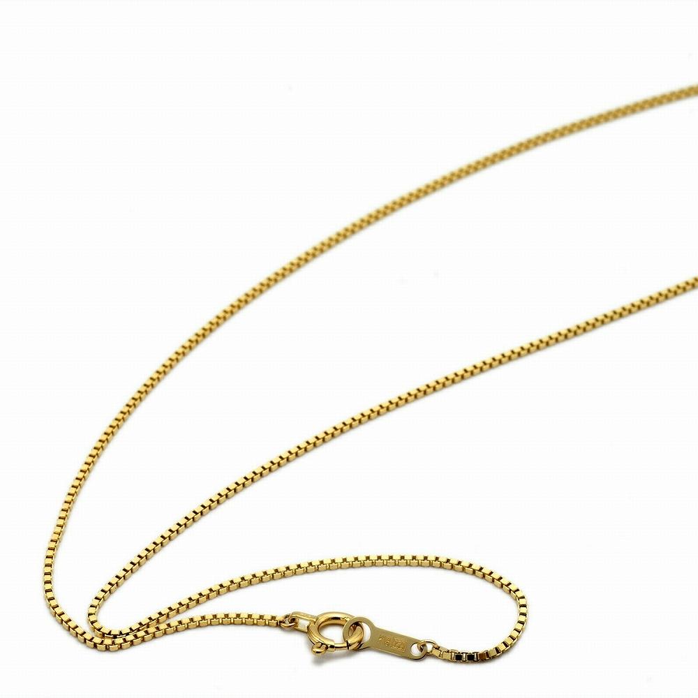ネックレス チェーン 18金 イエローゴールド ベネチアンチェーン 幅0.85mm 長さ38cm|鎖 K18YG 18k 貴金属 ジュエリー レディース メンズ