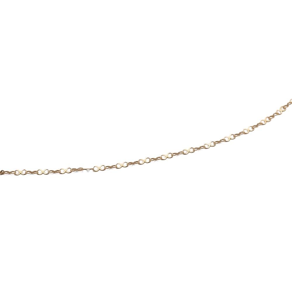 ネックレス チェーン 18金 イエローゴールド インフィニティーチェーン 幅2.8mm|鎖 K18YG 18k 貴金属 ジュエリー レディース