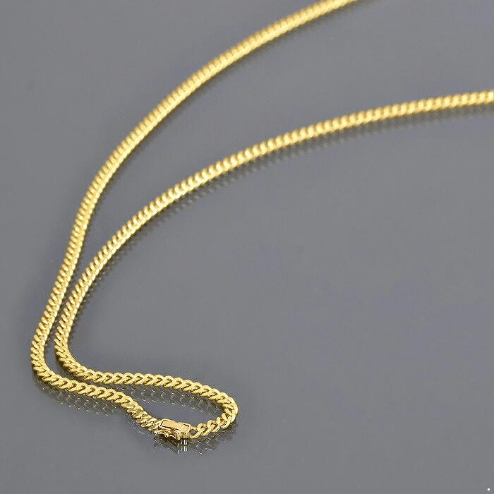 ネックレス チェーン 18金 イエローゴールド 2面カット喜平チェーン 幅3.7mm 長さ38cm 鎖 K18YG 18k 貴金属 ジュエリー レディース メンズ