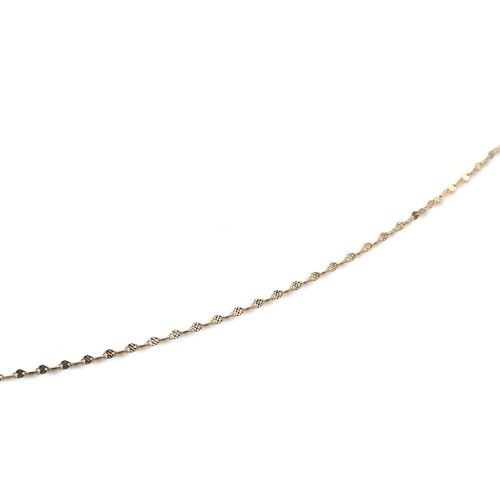 ネックレス チェーン 18金 イエローゴールド フラワークロスチェーン 幅1.75mm|鎖 K18YG 18k 貴金属 ジュエリー レディース メンズ