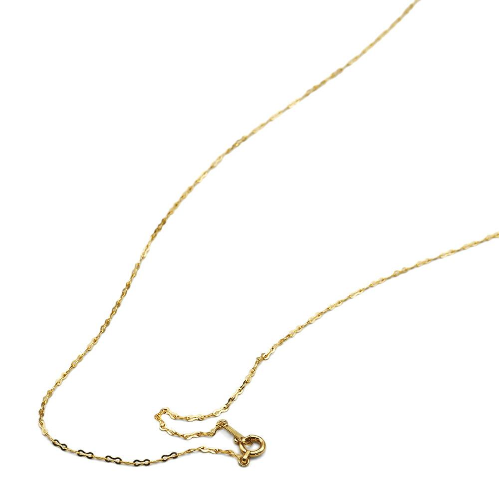 ネックレス チェーン 18金 イエローゴールド フラットリボンチェーン 幅1.3mm|鎖 K18YG 18k 貴金属 ジュエリー レディース