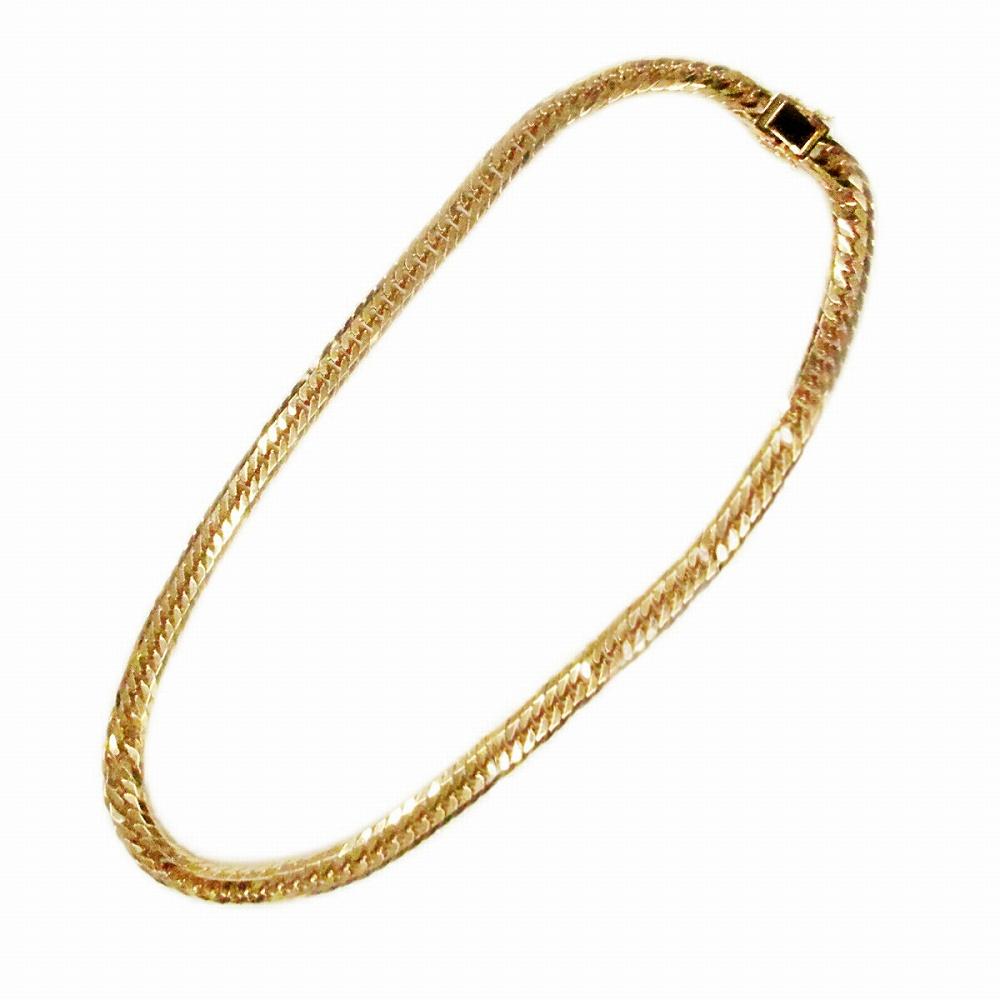 ネックレス チェーン 18金 イエローゴールド 8面カットトリプル喜平チェーン 幅9.0mm 長さ60cm|鎖 K18YG 18k 貴金属 ジュエリー メンズ