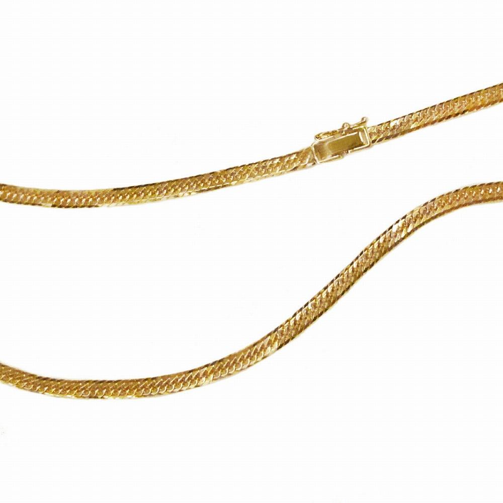 ネックレス チェーン 18金 イエローゴールド 8面カットトリプル喜平チェーン 幅3.05mm 長さ40cm|鎖 K18YG 18k 貴金属 ジュエリー レディース メンズ