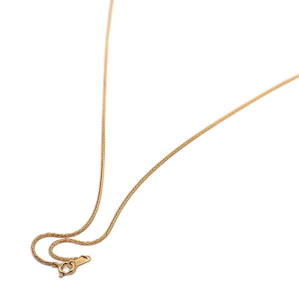 ネックレス チェーン 18金 イエローゴールド スパイクチェーン 幅0.9mm|鎖 K18YG 18k 貴金属 ジュエリー レディース