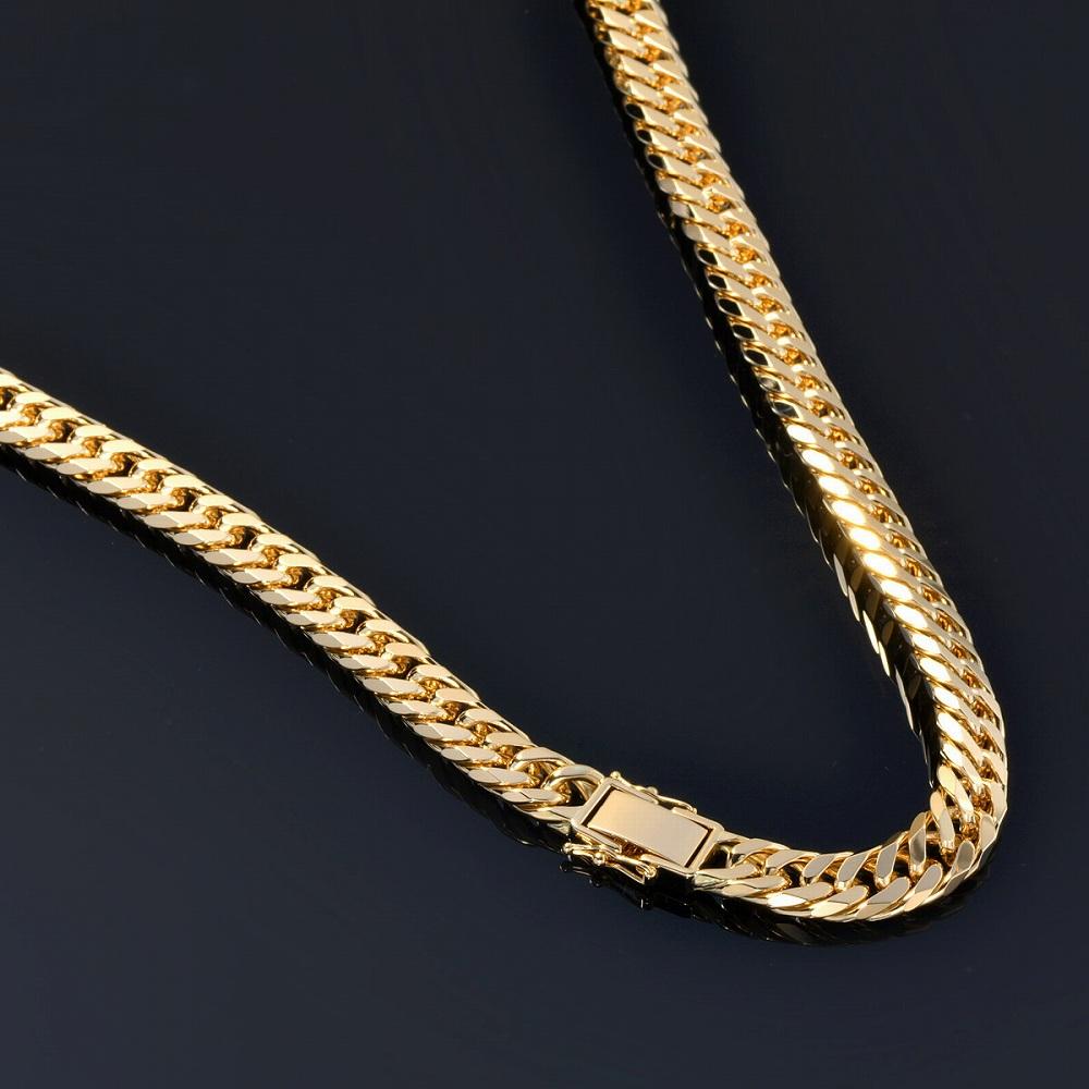 ネックレス チェーン 18金 イエローゴールド 6面カットダブル喜平チェーン 幅10.7mm 長さ60cm|鎖 K18YG 18k 貴金属 ジュエリー メンズ