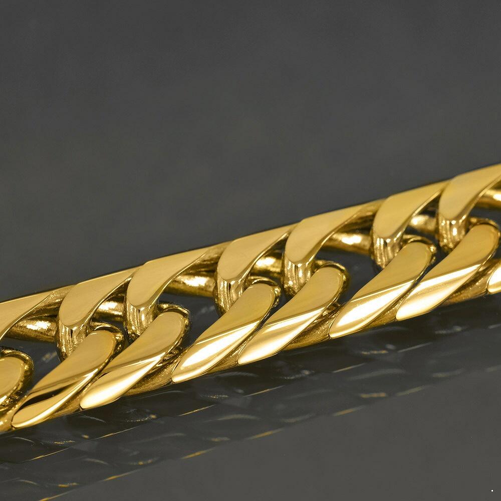 ネックレス チェーン 18金 イエローゴールド 6面カットダブル喜平チェーン 幅13.1mm 長さ60cm|鎖 K18YG 18k 貴金属 ジュエリー メンズ