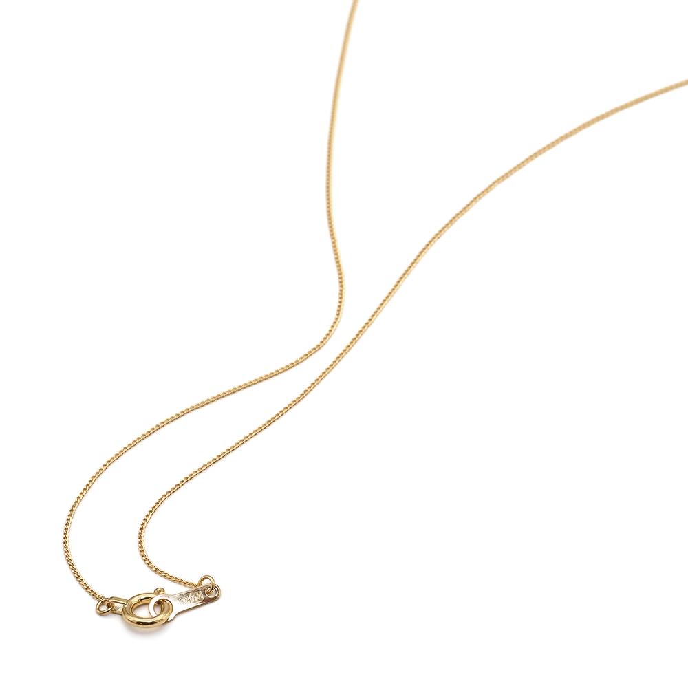 ネックレス チェーン 18金 イエローゴールド 2面カット喜平チェーン 幅0.6mm 長さ38cm|鎖 K18YG 18k 貴金属 ジュエリー レディース メンズ