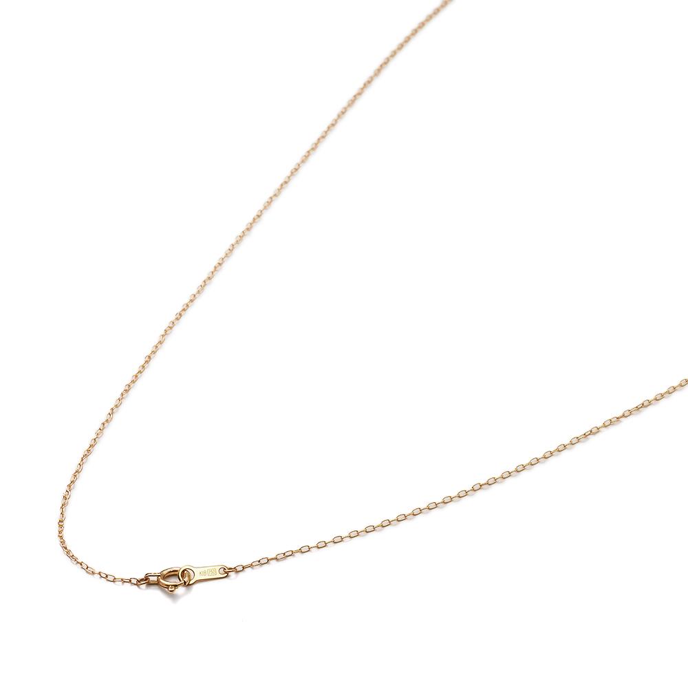 ネックレス チェーン 18金 イエローゴールド ロング小豆チェーン 幅1.0mm 長さ38cm|鎖 K18YG 18k 貴金属 ジュエリー レディース メンズ