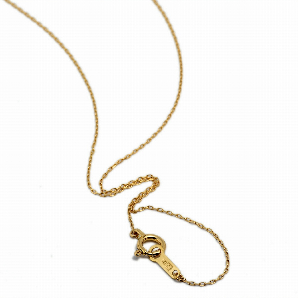 ネックレス チェーン 18金 イエローゴールド 4面カット小豆チェーン 幅0.7mm 長さ38cm|鎖 K18YG 18k 貴金属 ジュエリー レディース メンズ