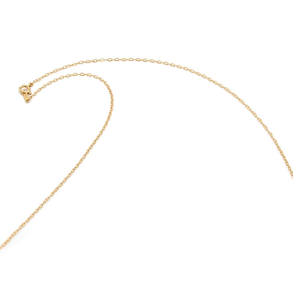 ネックレス チェーン 18金 イエローゴールド 荒小豆チェーン 幅1.3mm 長さ38cm 鎖 K18YG 18k 貴金属 ジュエリー レディース メンズ