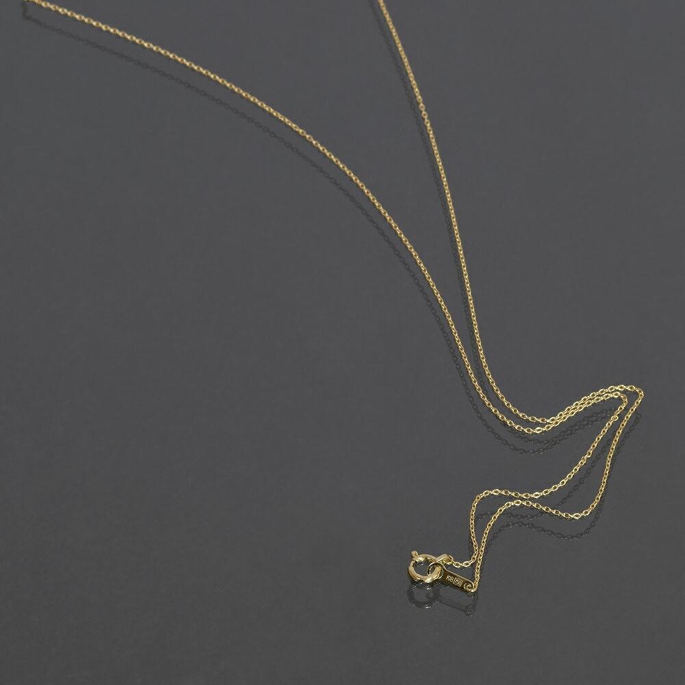 ネックレス チェーン 18金 イエローゴールド 小豆チェーン 幅0.8mm 長さ38cm|鎖 K18YG 18k 貴金属 ジュエリー レディース メンズ