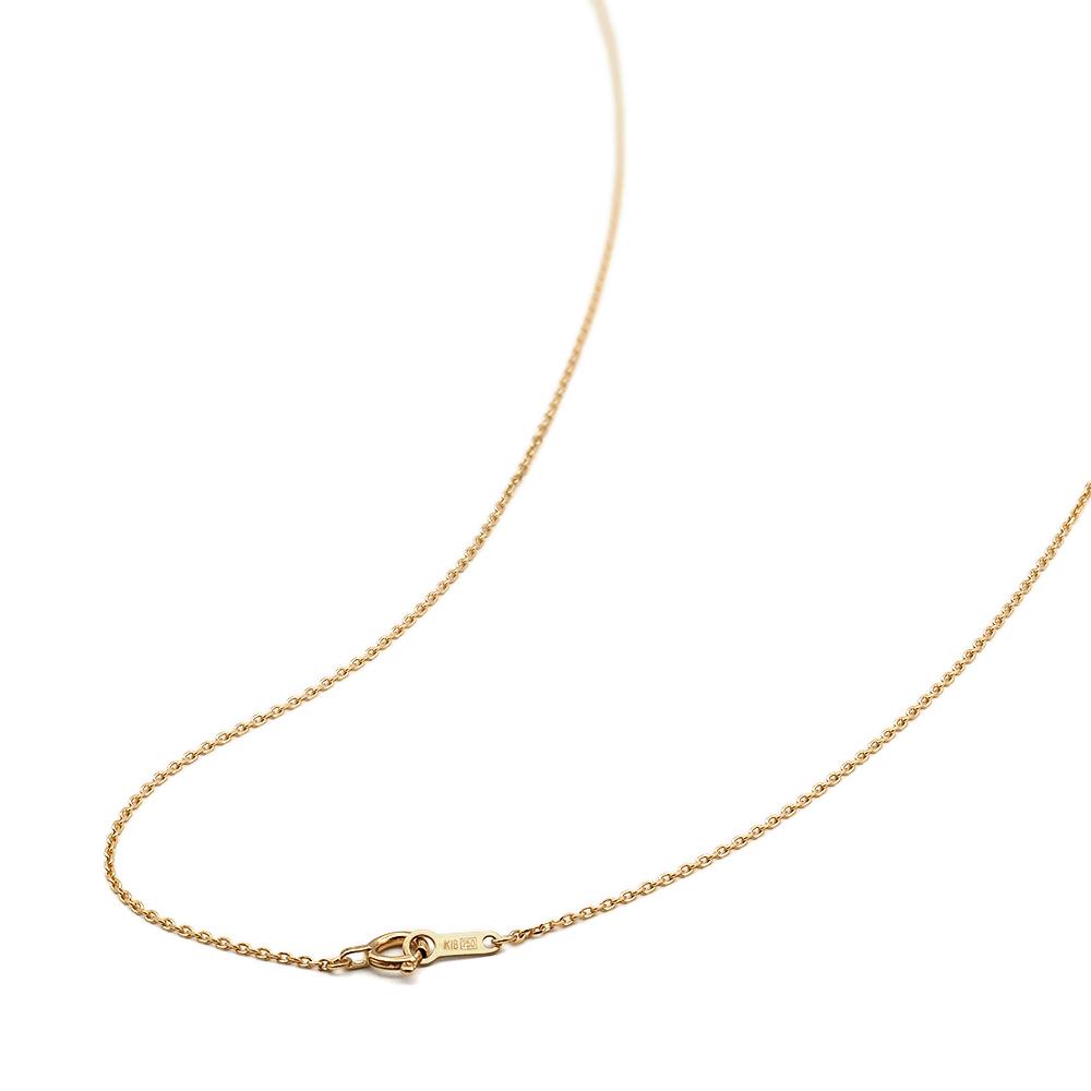 ネックレス チェーン 18金 イエローゴールド 4面カット小豆チェーン 幅1.0mm 長さ38cm|鎖 K18YG 18k 貴金属 ジュエリー レディース メンズ