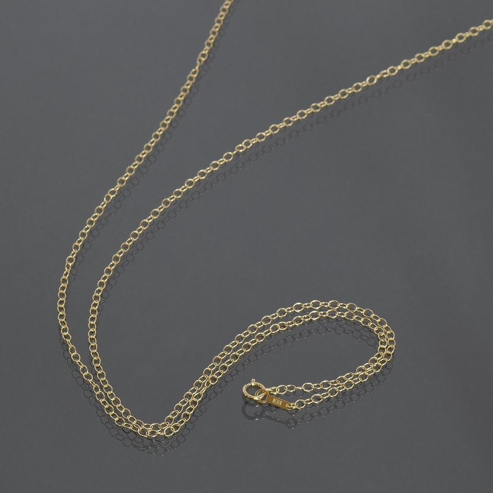 ネックレス チェーン 18金 イエローゴールド 荒小豆チェーン 幅2.3mm 長さ38cm|鎖 K18YG 18k 貴金属 ジュエリー レディース メンズ