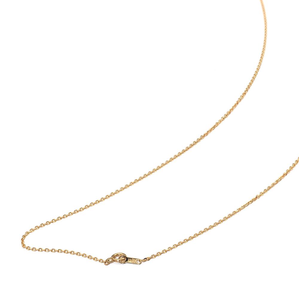ネックレス チェーン 18金 イエローゴールド 4面カット小豆チェーン 幅1.2mm 長さ38cm|鎖 K18YG 18k 貴金属 ジュエリー レディース メンズ